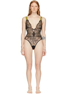 Off-White SSENSE Exclusive Black Lace One-Piece Bodysuit