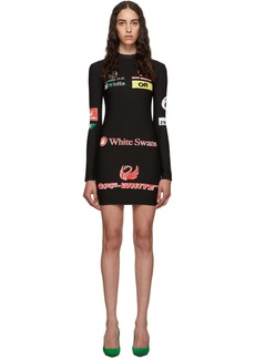 Off-White SSENSE Exclusive Black Multilogo Sporty Dress