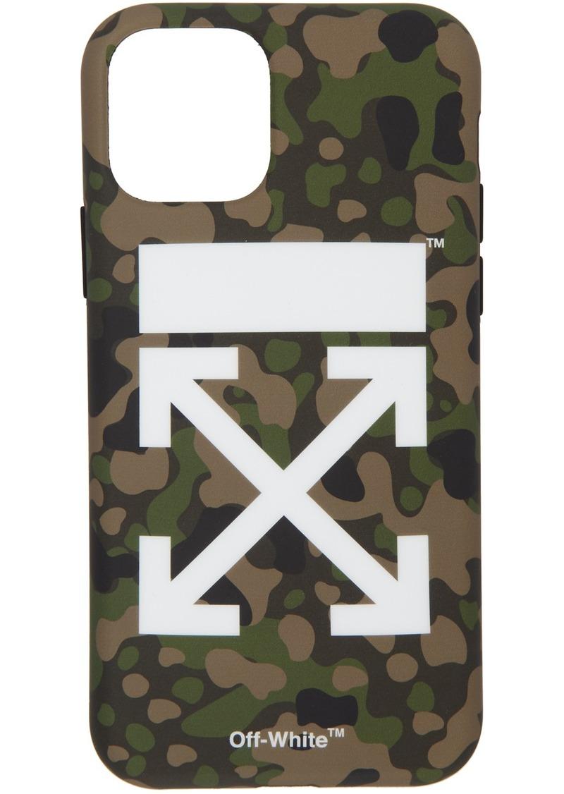 Off-White SSENSE Exclusive Green Camo Arrow iPhone 11 Case