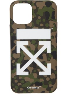 Off-White SSENSE Exclusive Green Camo Arrow iPhone 11 Pro Case