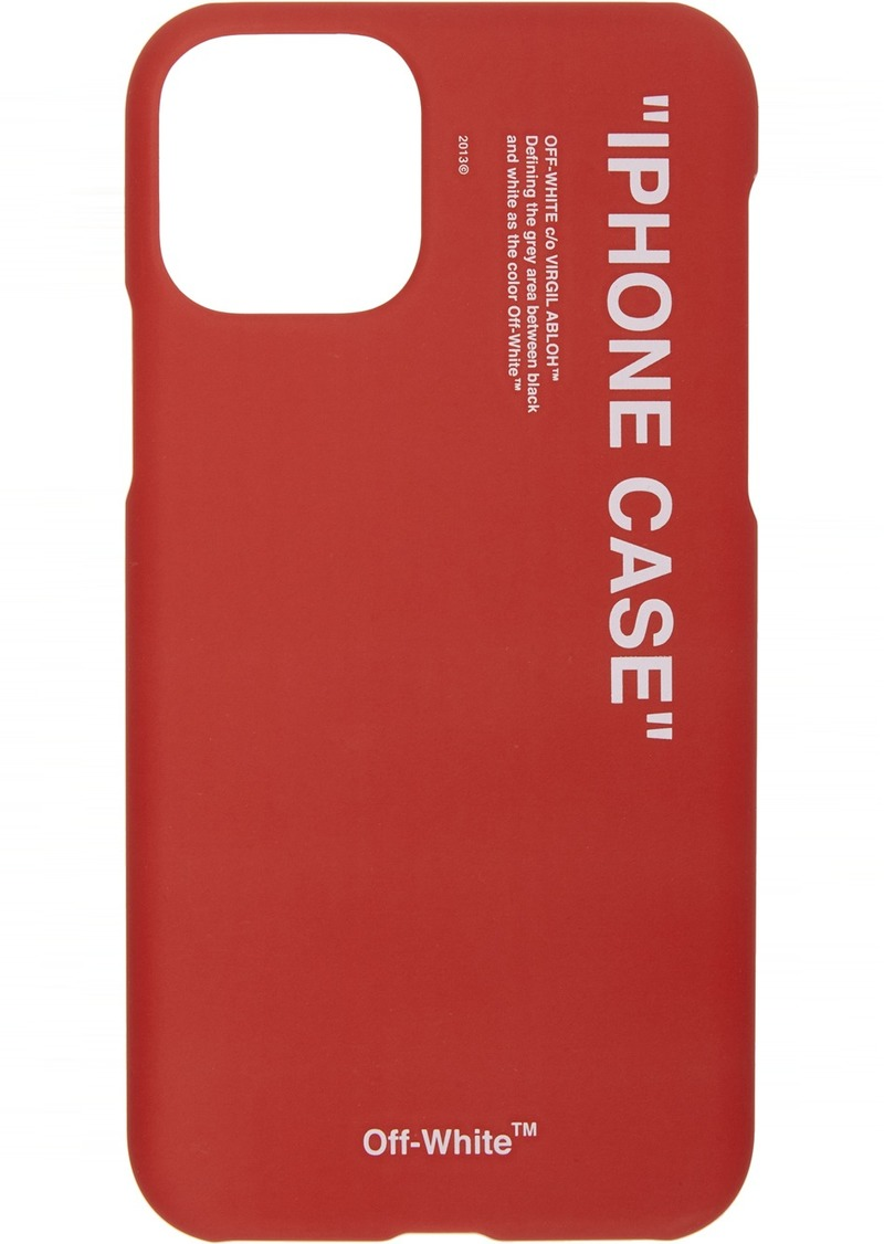 Off-White SSENSE Exclusive Red Quote iPhone 11 Pro Case
