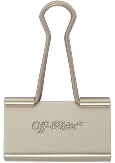 Off-White SSENSE Exclusive Silver Binder Clip Keychain
