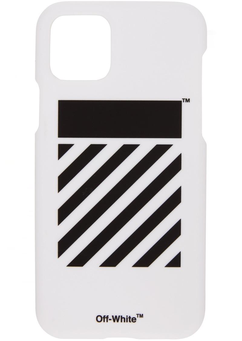 Off-White SSENSE Exclusive White Diagonal iPhone 11 Case
