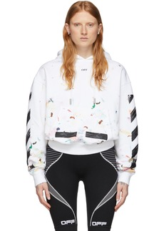 Off-White SSENSE Exclusive White Paint Splatter Hoodie