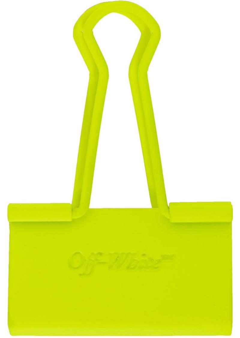 Off-White SSENSE Exclusive Yellow Binder Clip Keychain