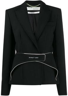 Off-White strap detail blazer