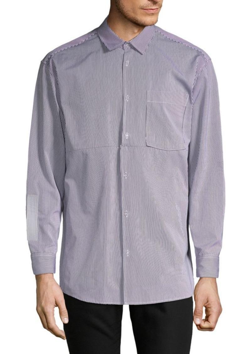 Off-White Striped Button-Down Shirt