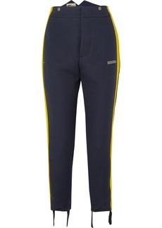 Off-White Striped Crepe Straight-leg Pants