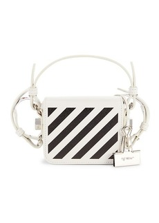 Off-White Striped leather Convertible Belt Bag
