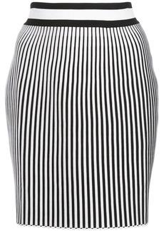 Off-White striped mini skirt
