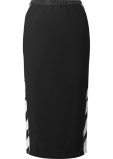 Off-White Striped Stretch-jersey Midi Skirt