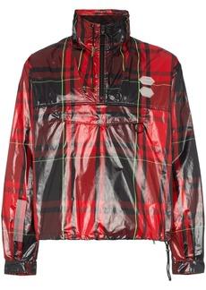 Off-White tartan zip neck jacket