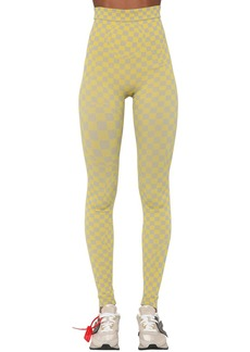 Off-White Tech Intarsia Knit Leggings