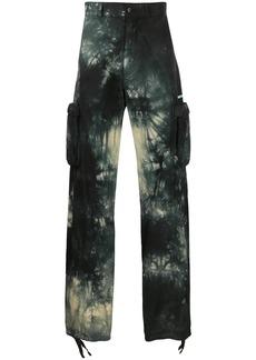 Off-White tie-dye cargo trousers