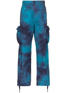 Off-White tie-dyed cargo trousers