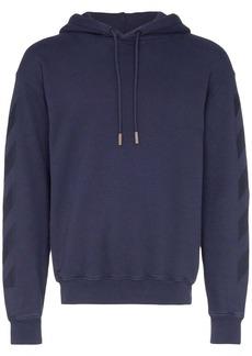 Off-White tonal logo print hoodie