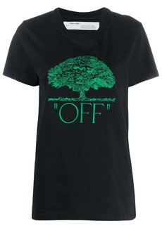 Off-White tree embroidery T-shirt