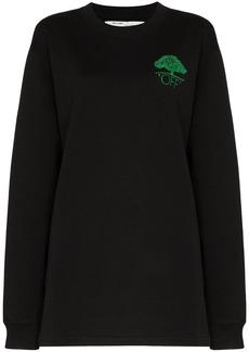 Off-White tree logo embroidered sweatshirt dress