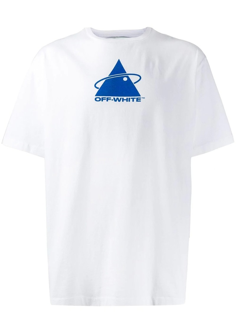 Off-White triangle planet printed T-shirt
