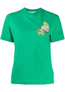 Off-White tropical logo print T-shirt