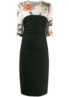 Off-White two-layer midi dress