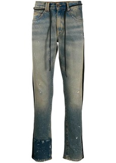 Off-White two-tone denim jeans