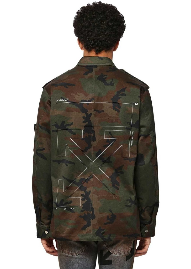 Off-White Unfinished Camo Cotton Military Jacket