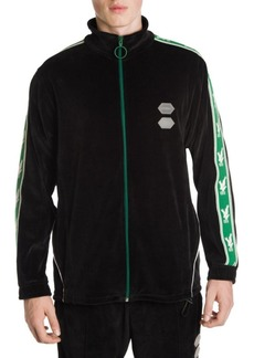 Off-White Velour Side Stripe Track Jacket