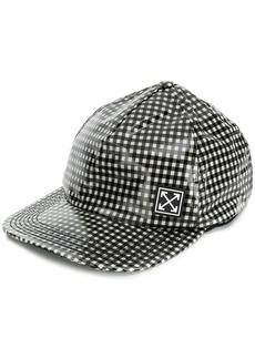 Off-White vichy print baseball cap