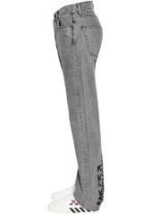 Off-White Waterproof Relaxed Tapered Denim Jeans