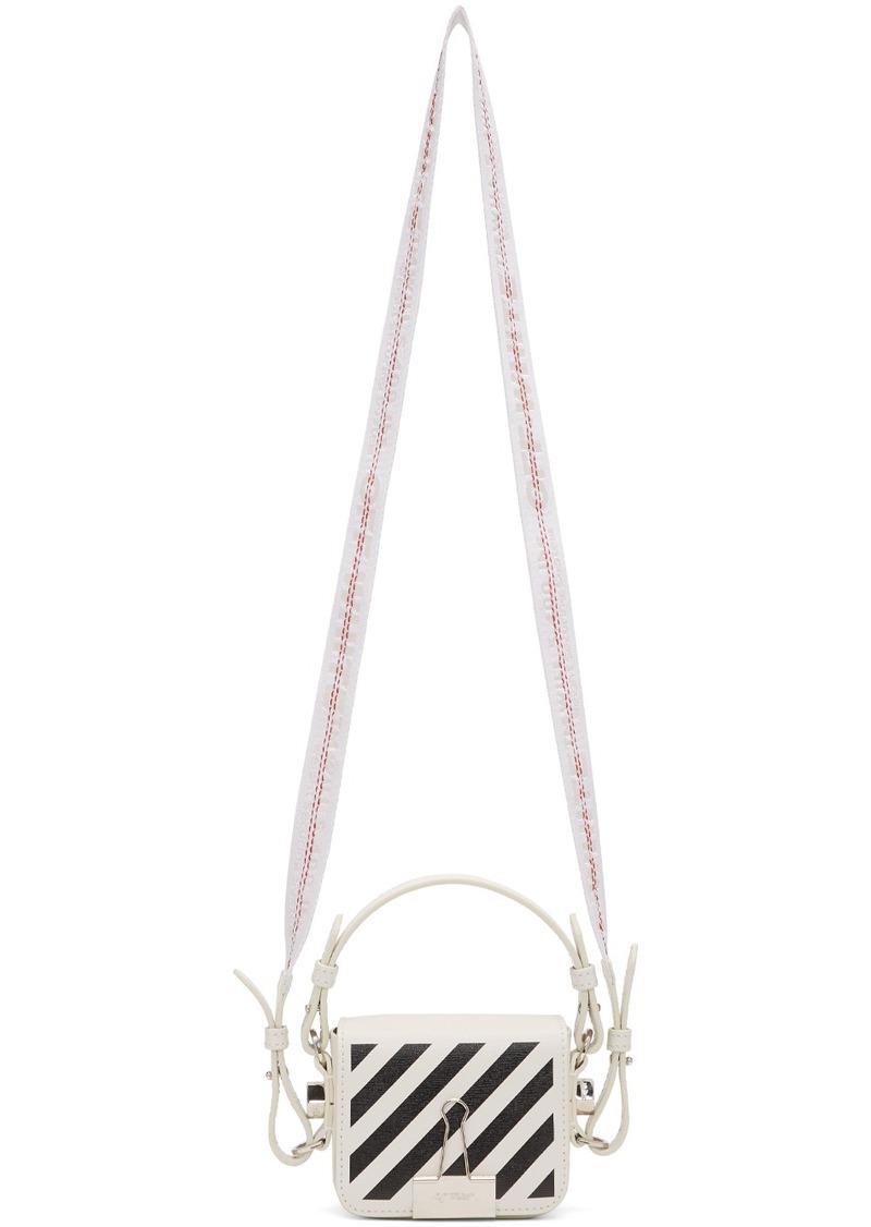 Off-White White & Black Diag Baby Flap Bag