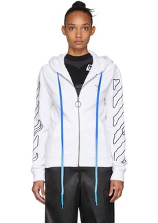 Off-White White Abstract Arrows Zip Hoodie