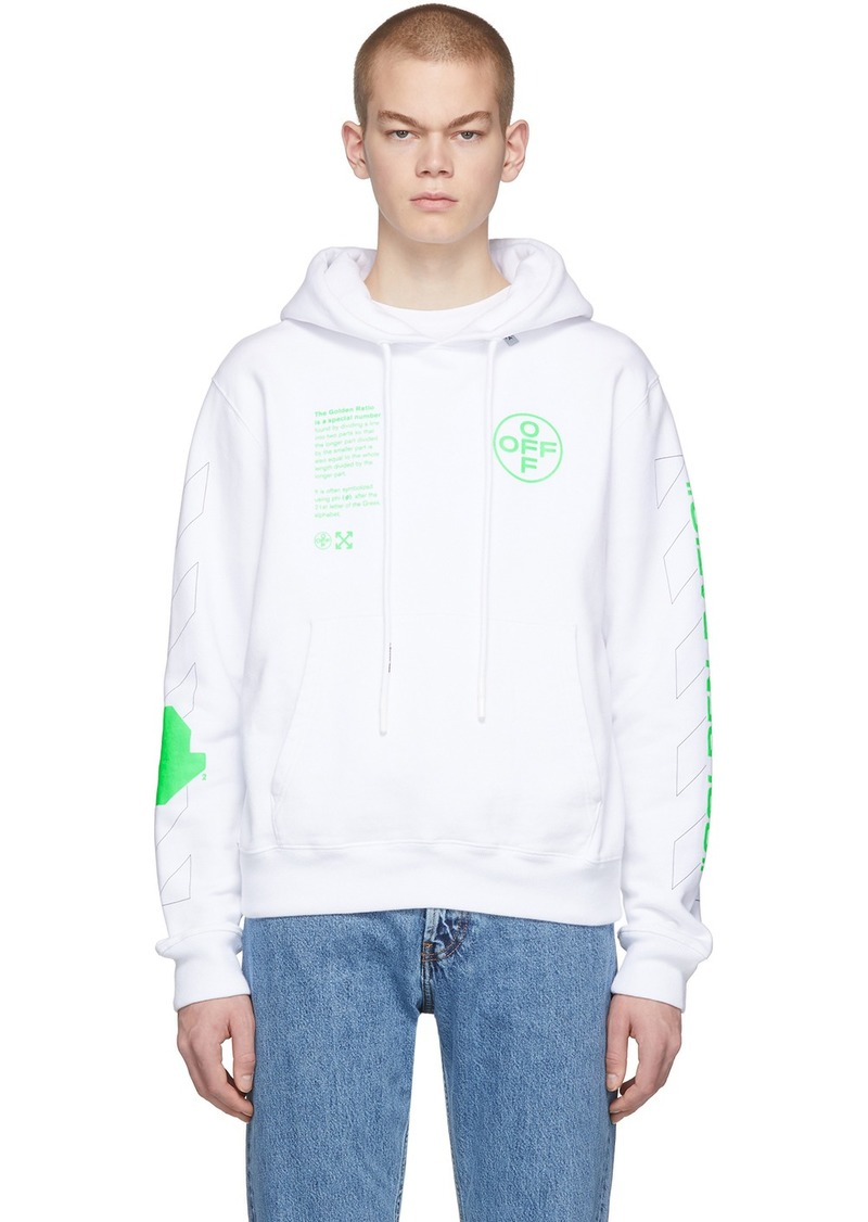 Off-White White Arch Shapes Hoodie