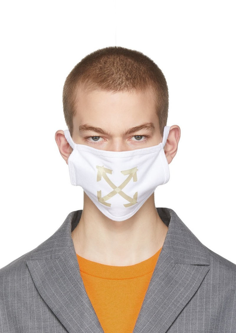 Off-White White Arrows Face Mask