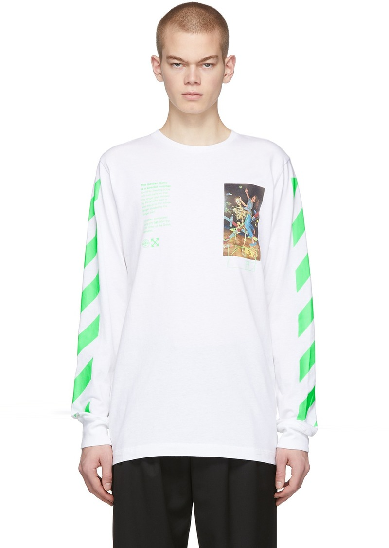 Off-White White Pascal Painting Long Sleeve T-Shirt