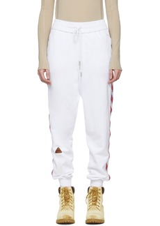 Off-White White Side Tape Lounge Pants