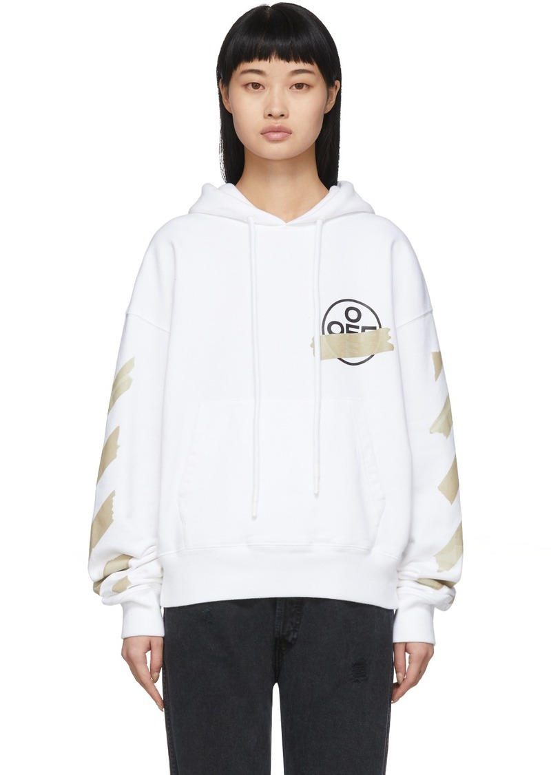 Off-White White Tape Arrows Over Hoodie