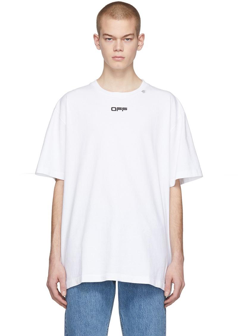 Off-White White Wavy Line Logo T-Shirt