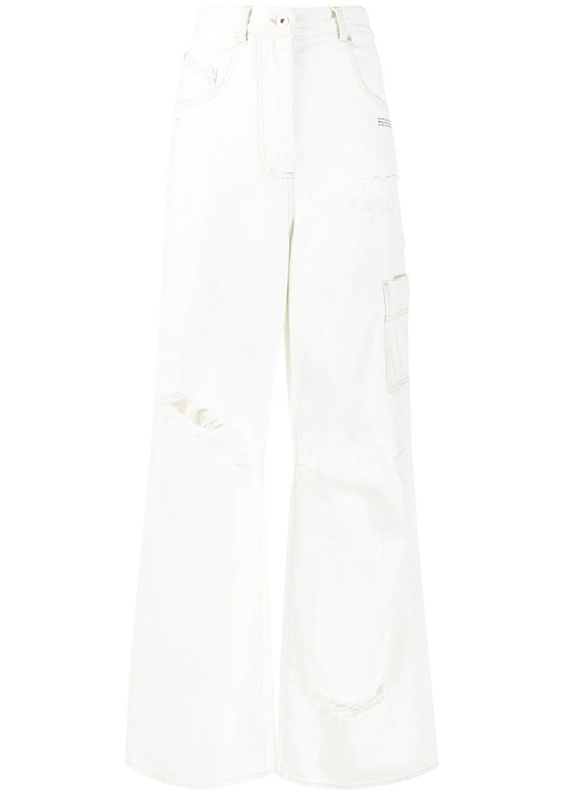 Off-White wide leg jeans