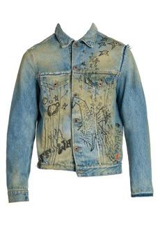 Off-White Wizard Deconstructed Denim Jacket