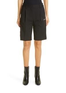 Women's Off-White Logo Formal Shorts