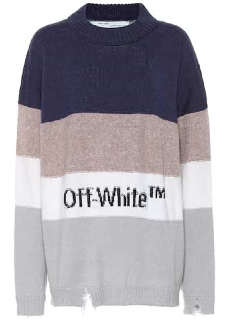 Off-White Wool and cotton-blend sweater