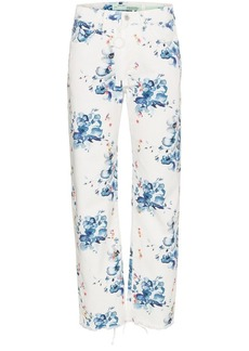 Off-White x Browns floral print straight denim jeans
