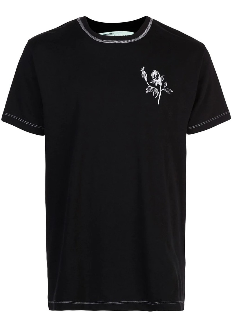 Off-White x The Webster contrast stitch T-shirt