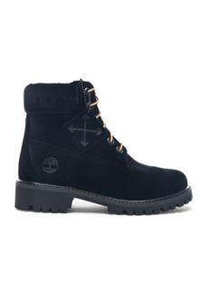 OFF-WHITE x Timberland Velvet Hiking Boots