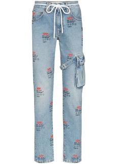 Off-White Y2013 logo slim-fit jeans