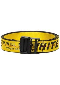 Off-White safety tape logo belt