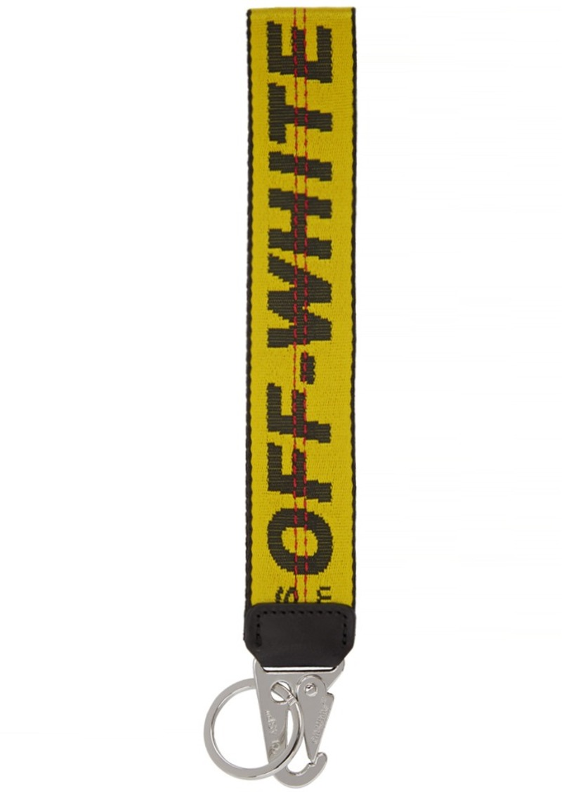 Off-White Yellow Industrial Keychain