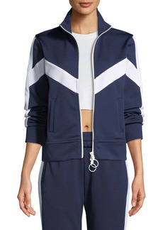 Off-White Zip Front Chevron Track Jacket