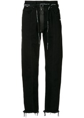 Off-White zip front straight leg jeans